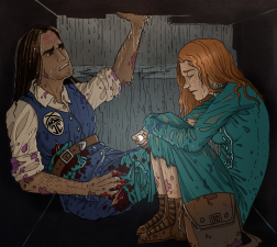 Kaladin and Shallan in Chasm.png