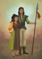 Kaladin and Tarah by Vaigerika.png
