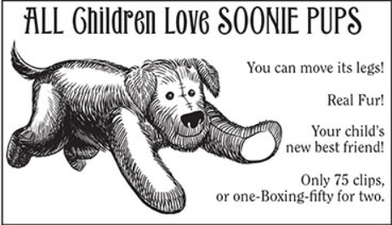 Soonie pup advert.png